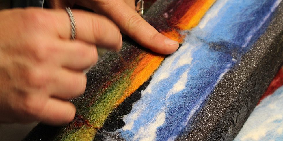 Needle Felted Wool Landscapes: Intro Workshop with Jaana Mattson