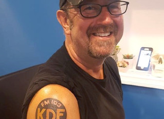 Aryn tattoos Big Dave from B-105