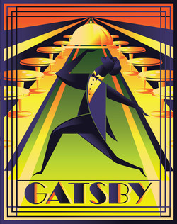 Gatsby Restaurant Logo/Illustration