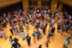 A modern swing dance social
