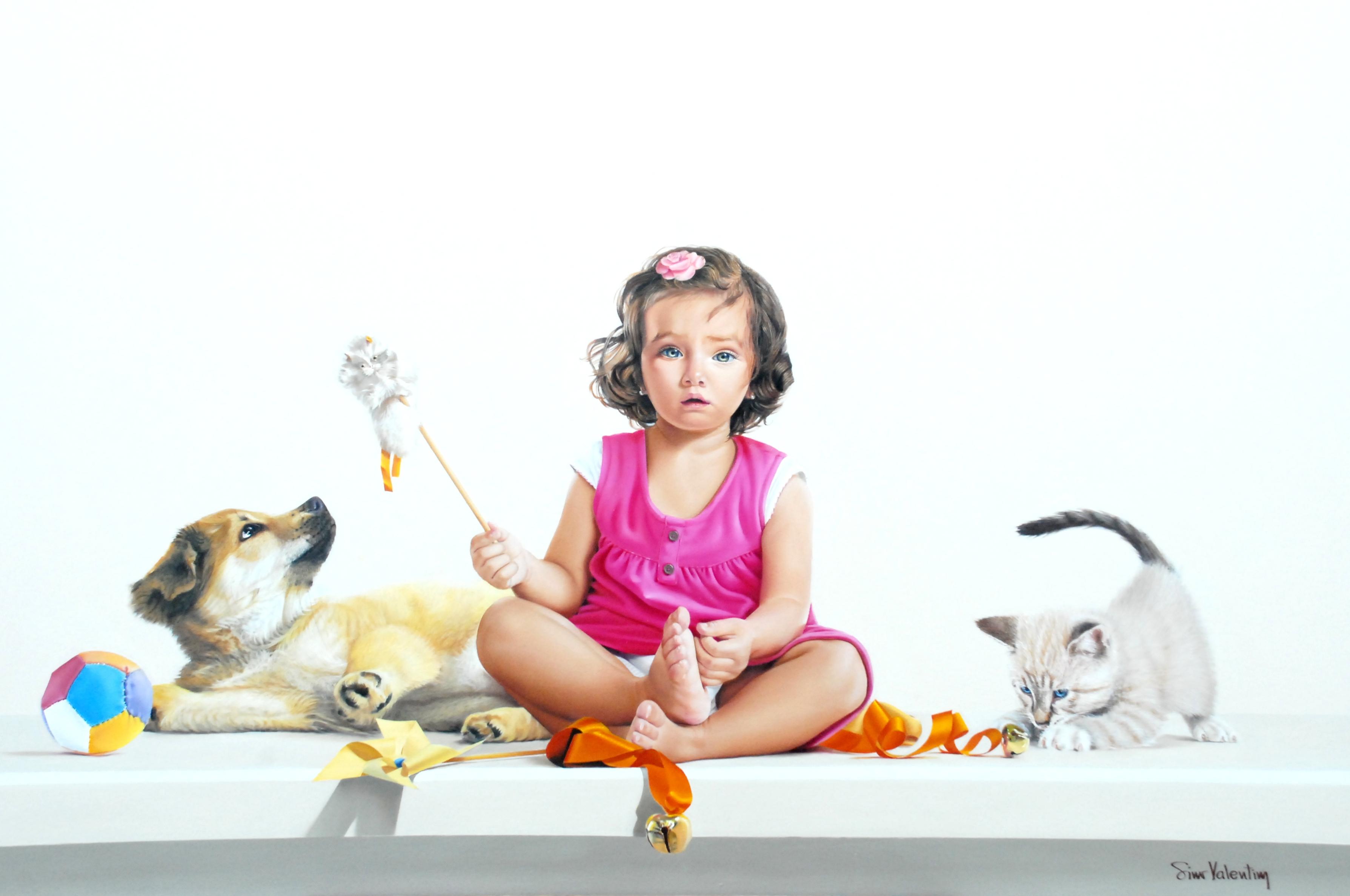 A Menina e os Filhotes