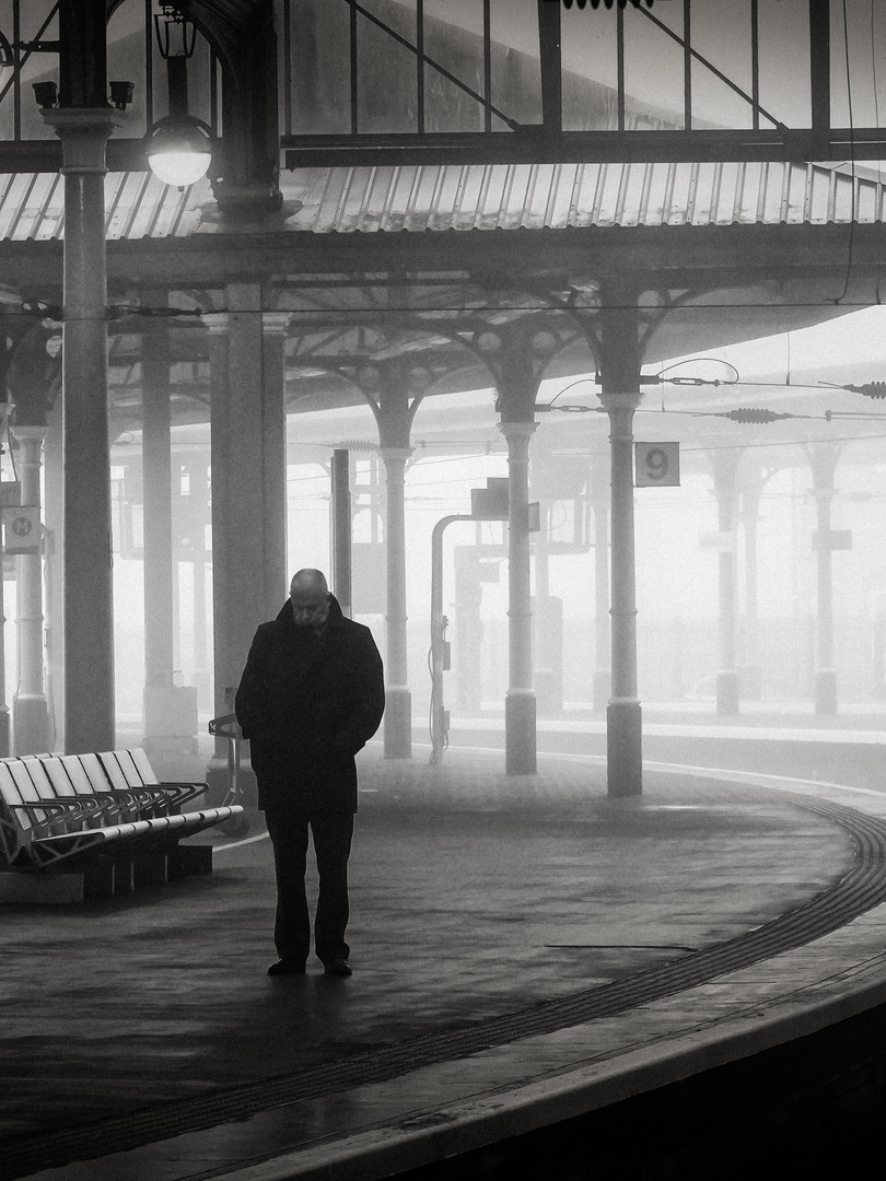 Man in the station