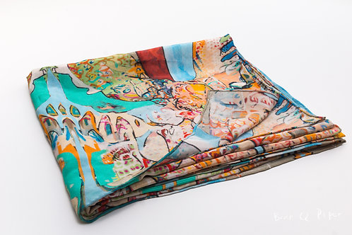 """Silk Scarf """"The intentions of Narcissus' gift to the world"""""""