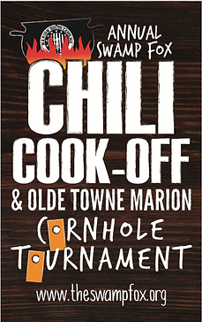 7th Annual Swamp Fox Chili Cook-off and Olde Towne Marion Cornhole Tournament
