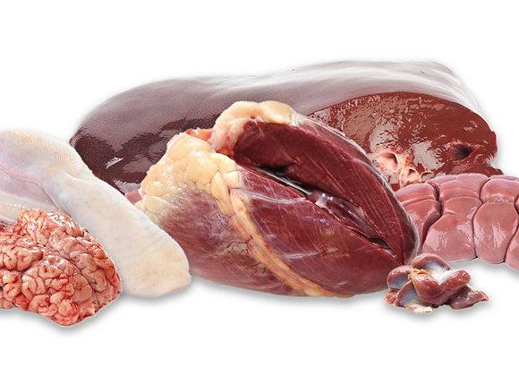 Beef Heart, Liver, Tongue
