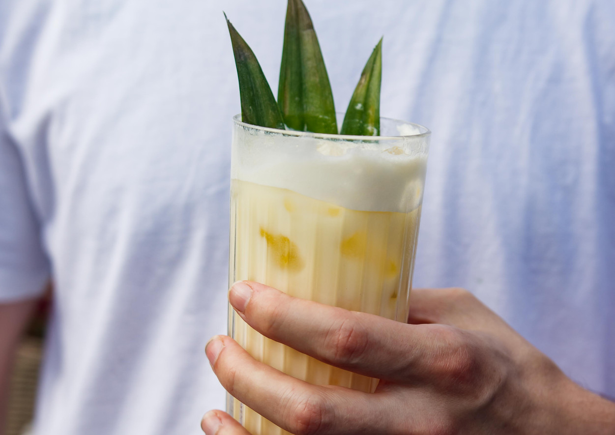 PINEAPPLE MILK PUNCH