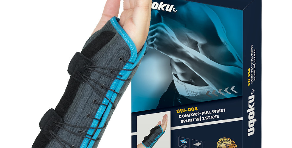 UGOKU COMFORT-PULL WRIST  SPLINT WITH 2 STAYS - rigid support to injured wrists