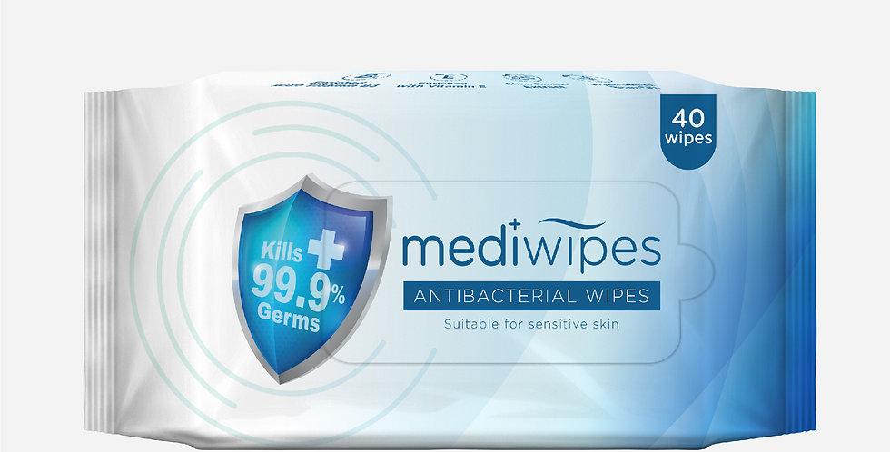MEDI+ ANTIBACTERIAL WIPES 40'S