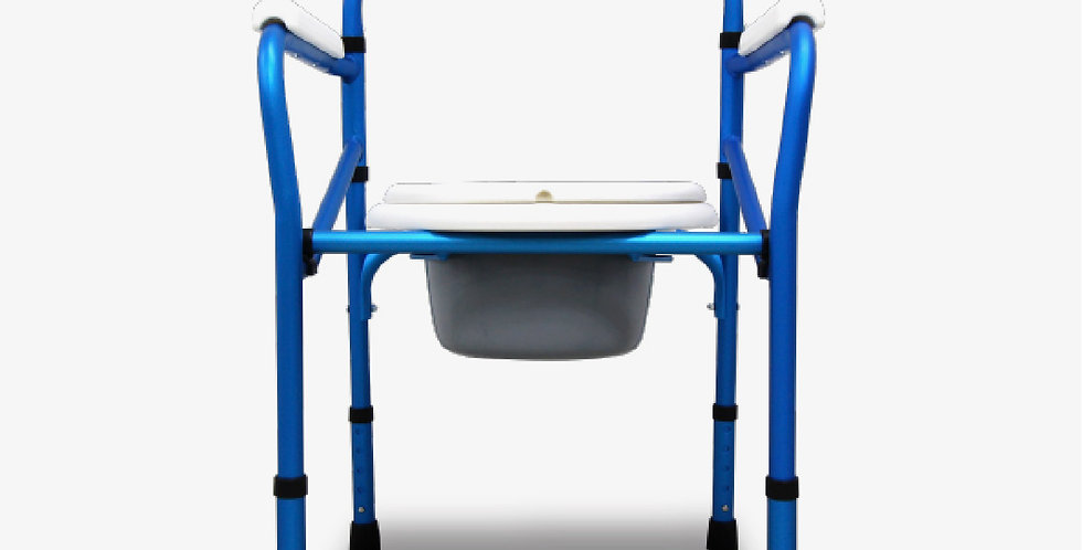 ANZEN ALUMINIUM FOLDING COMMODE - Crutches Tongkat