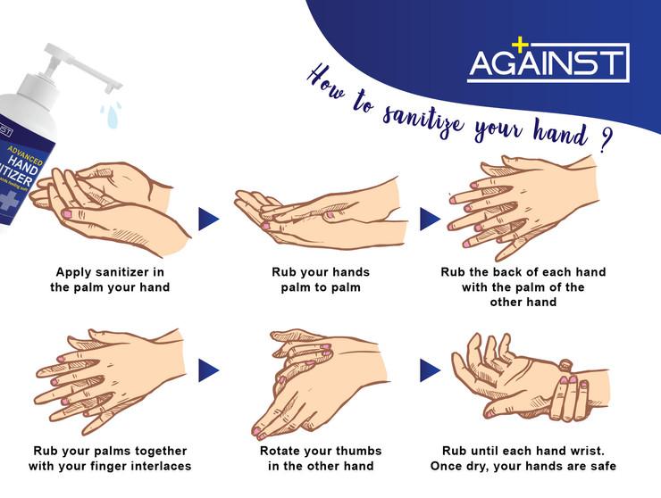 against advance hand sanitizer 500ml POS