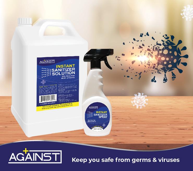 against INSTANT sanitizer 500ml POSM_7.j