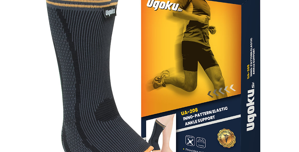 UGOKU INNO-PATTERN ELASTIC ANKLE SUPPORT (relieve pain and swelling)