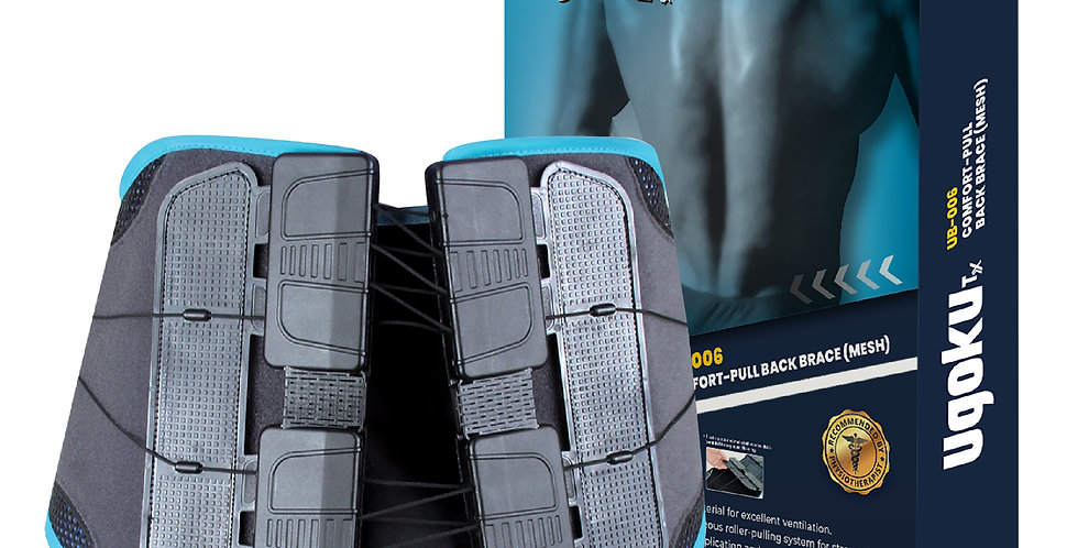 UGOKU COMFORT-PULL BACK BRACE (MESH) is designed to be a rigid support to stabilize weak lumbar spines