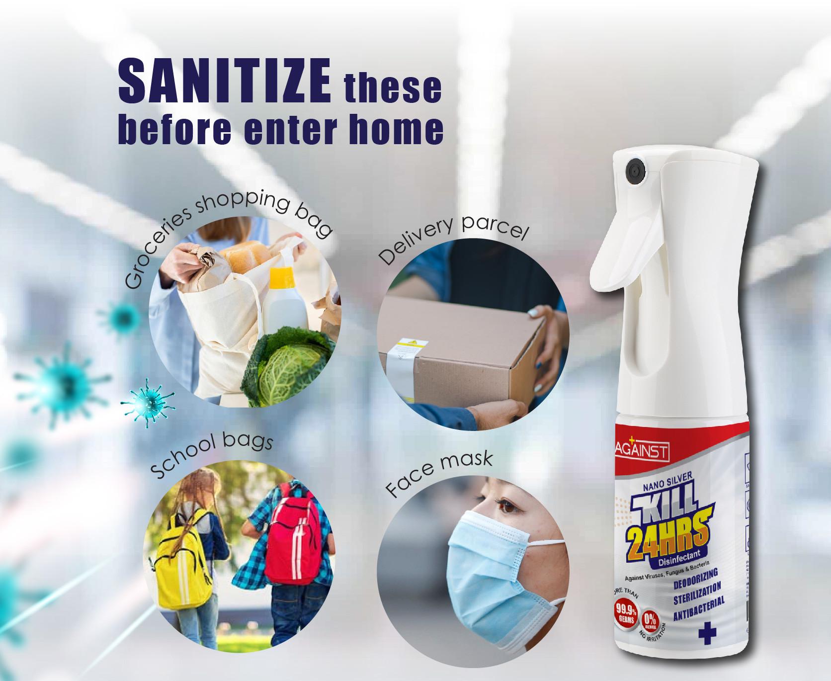 against nano silver disinfectant POSM-04