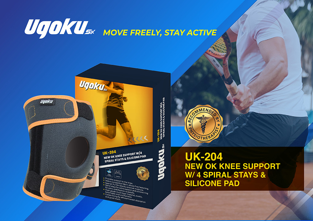 OK Knee support w spiral stay and silico