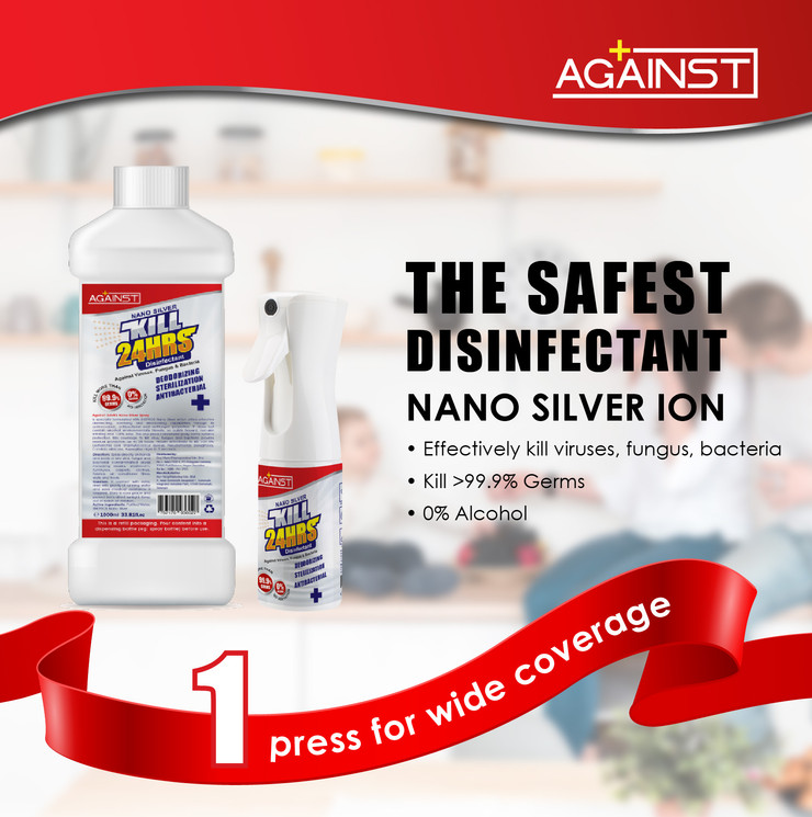 against nano silver disinfectant POSM-01