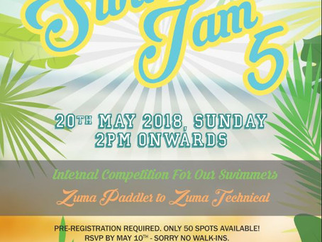 Mark your Calender for Swim Jam 5