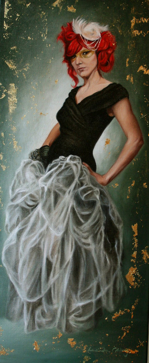 Gabby Young - Singer - Oil and Gold leaf on canvas