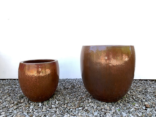 Copper Red True Egg Pot- 2 Sizes Available