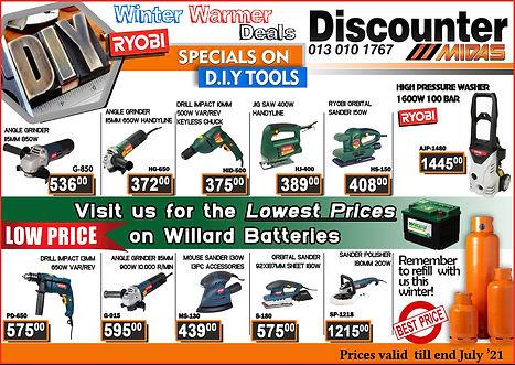 Midas, Midas Online, Midas Store, Power Tools, Diy, Witbank