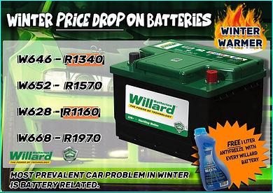 Willard Battery, Midas, Midas Parts, Midas Online, Car battery Special, battery, car, automotive parts, Winter Specials, Winter Sale Midas