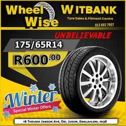 Witbank Wheel Wise Tyre Specials