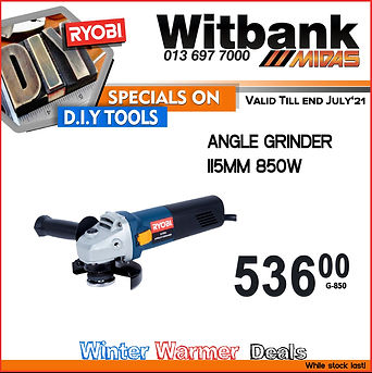 Midas, midas online, power tools, angle grinder, ryobi, special, deals, automotive, spares