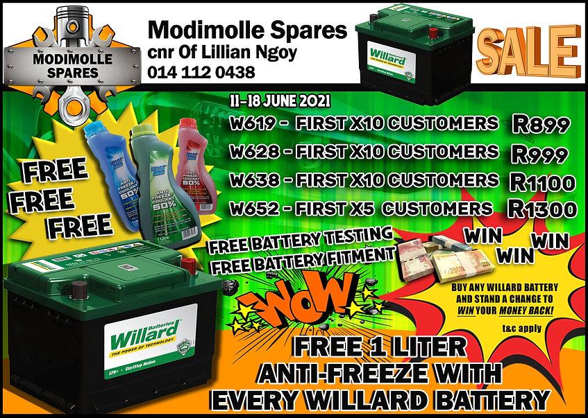 Modimolle Spares, Midas, Modimolle, Batteries, Willard, Anti Freeze, Fleet Line