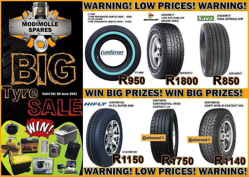 Modimolle Spares, tyres, specials, win prizes , automotive, wheels, car, spares