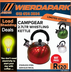 Midas, Midas Online, Midas Camp, Camp Gear, Whistling Kettle, metal Kettle, Fire or gas Kettle, wierdapark