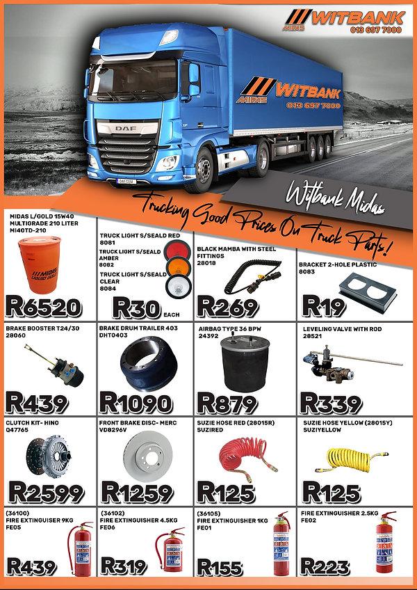 Midas Witbank, Midas, Midas Online, Automotive spares, Truck parts, Oil, truck lights, suzie hose, brake airbag, brake booster, fire extinguisher