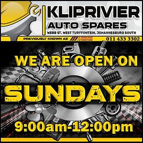 Midas, Kliprivier, Auto Spares, Kliprivier, Open , Sundays