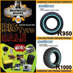 Modimolle Tyre Specials