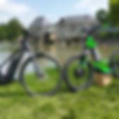 Sortie à vélo et en trottinette électriq