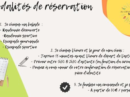 🤷🏻♀️ MODALITÉS DE RÉSERVATION 🤷🏻♂️