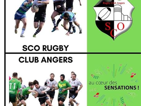 Au Coeur des SENSATIONS collabore avec le SCO RUGBY CLUB ANGERS 🏉