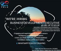 Business Development Executive | Ubi | Up to $3.2K