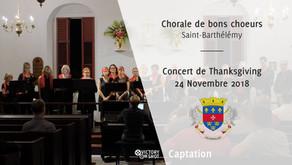 Chorale de bons choeurs - Concert de Thanksgiving du 24 Novembre 2018