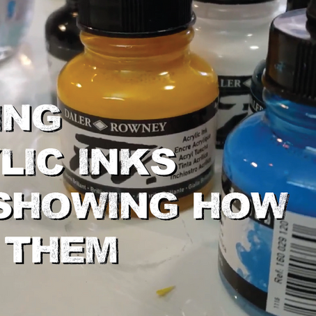Acrylic Inks? What do you do with them!?