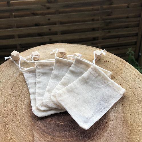 Lot de 3 Sachets de thé Réutilisable Perle bois