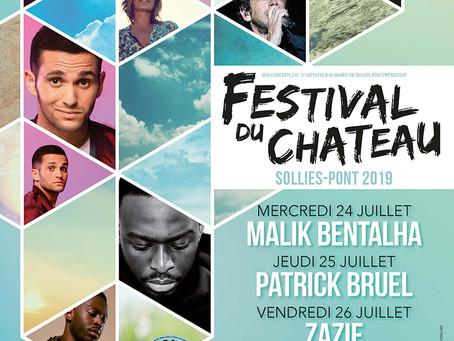 FESTIVAL DU CHÂTEAU DE SOLLIÈS-PONT 24 - 27 JUILLET 2019