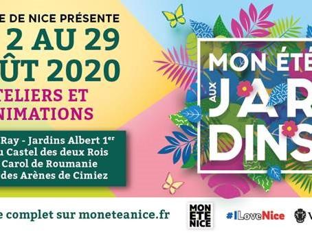 Jusqu'au 29 août 2020 Jardins de la Ville de Nice