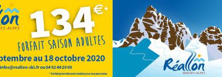 Ouverture des domaines skiables de Réallon et de Crévoux