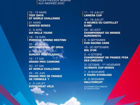 Le nouveau calendrier des événements 2020 du circuit Paul Ricard est en ligne