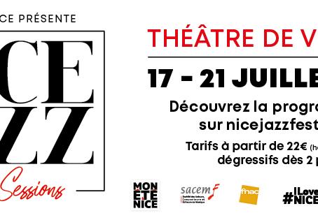 Nice Jazz Summer Sessions : Du 17 au 21 juillet au Théâtre de Verdure.