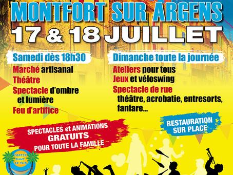 Festival Montf'art de rue les 17 et 18 juillet - Montfort sur Argens (83)