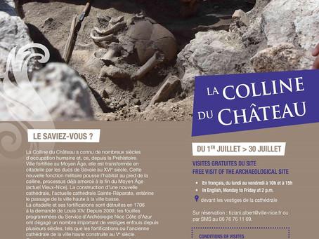 Visites du site de fouilles archéologiques de la Colline du Château de Nice