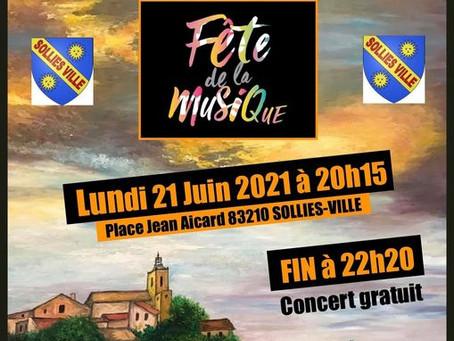 Fête de la musique 2021 à SOLLIES-VILLE.