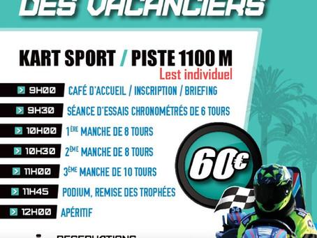 """SpeedKart tous les dimanches """"Le Trophée des Vacanciers 2020"""""""
