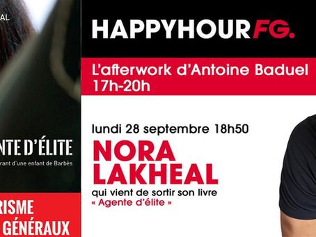 Nora Lakheal sera ce soir l'invitée d'Antoine Baduel dans son émission Happy Hour FG